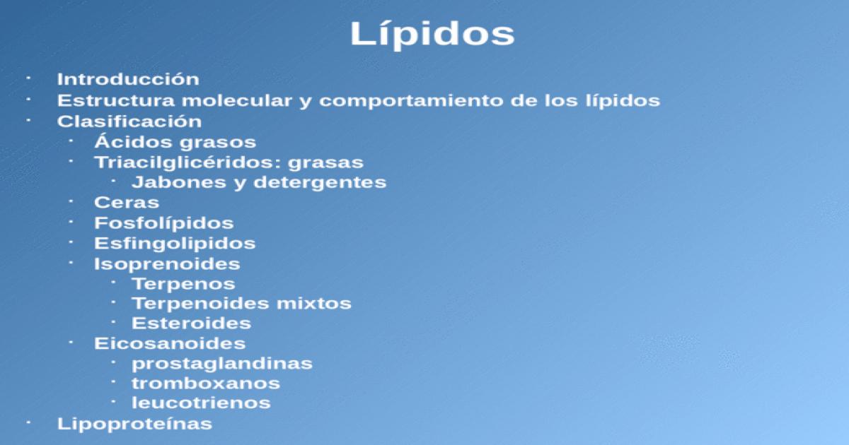 Lpidos Introduccin Introduccin Estructura Molecular Y