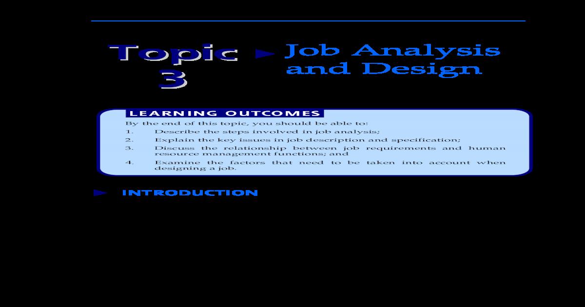 20140225043324 Topic 3 Job Analysis And Design Pdf Document