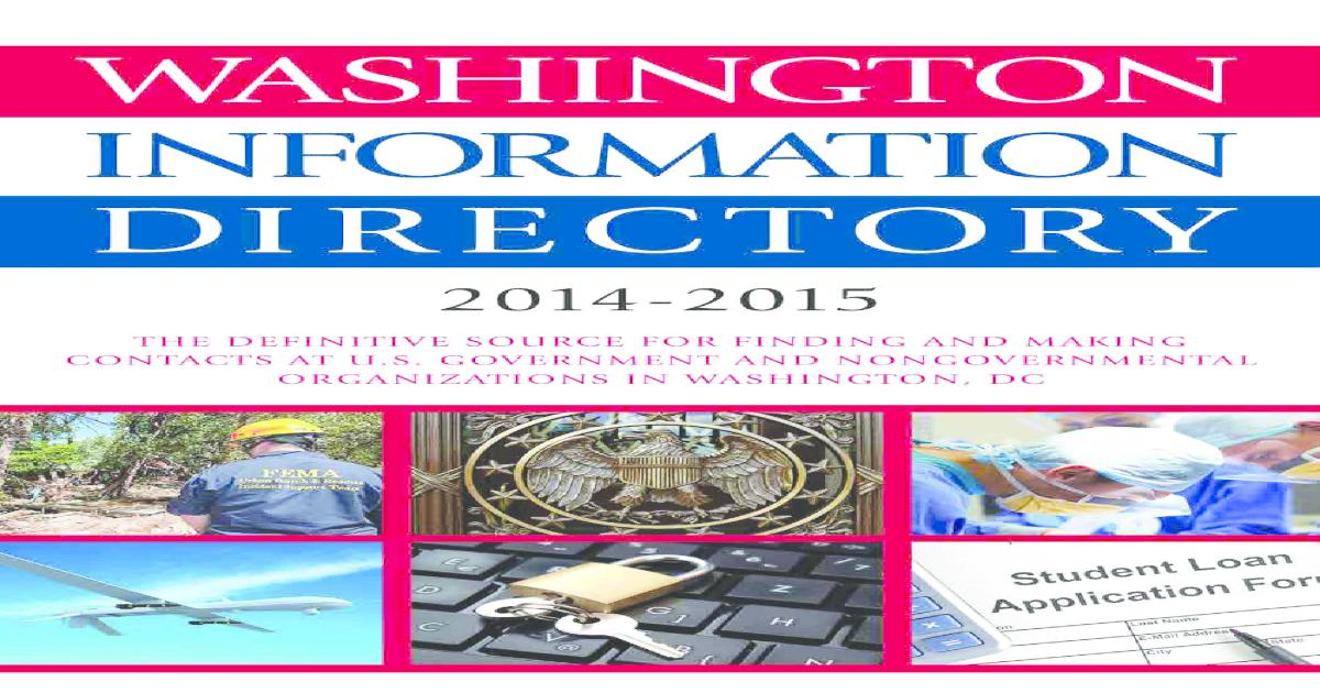 Washington Information Directory 2014-2015 pdf - [PDF Document]