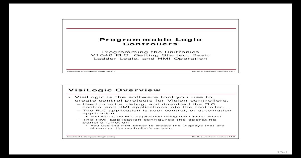 Programmable logic controllers basics - [PDF Document]