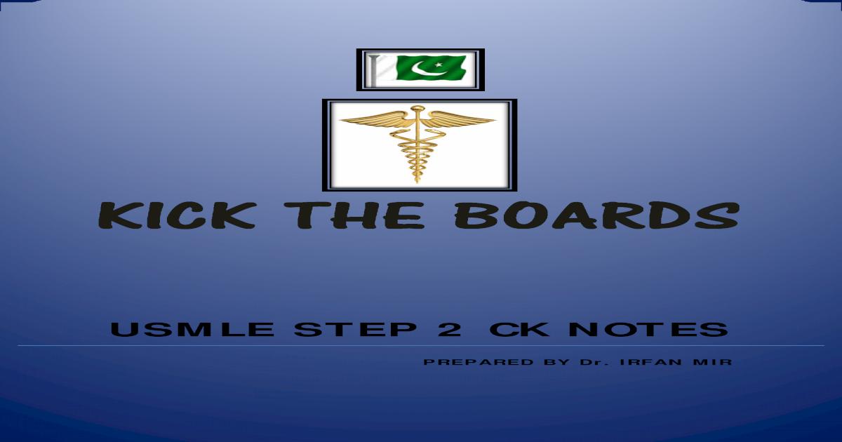 IRFANMIR USMLE STEP 2 CK NOTES pdf - [PDF Document]