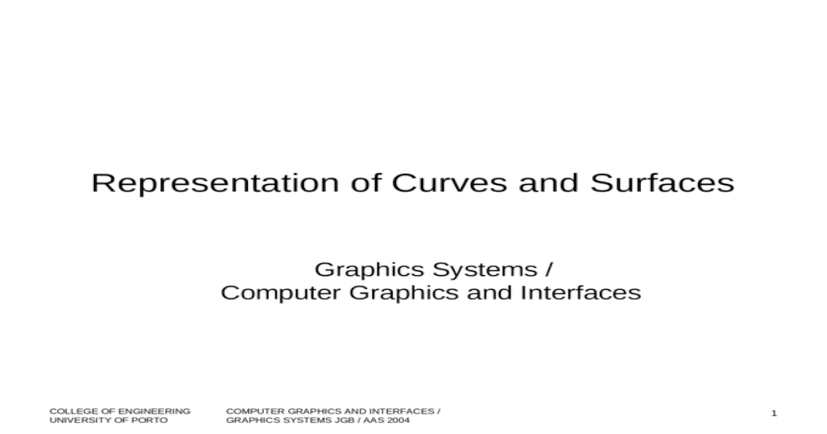 Computer representation of surfaces