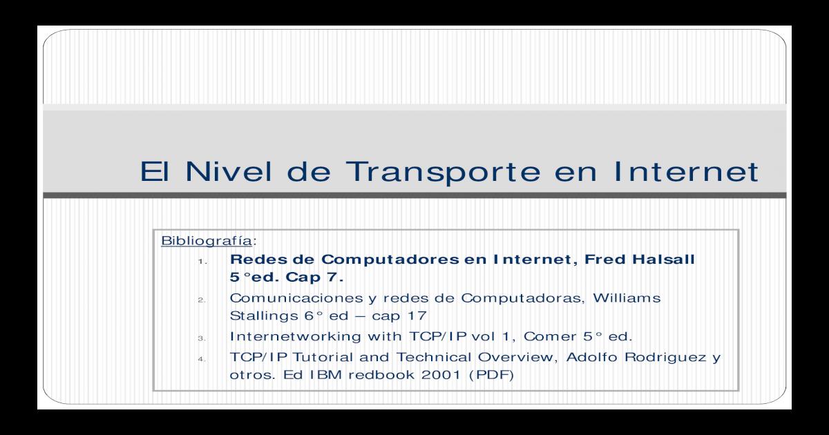 Redes De Computadoras E Internet Fred Halsall Pdf