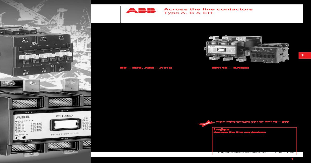 150 HP 480 VOLT 3 POLE 120 VOLT COIL ABB EH 170 CONTACTOR // STARTER