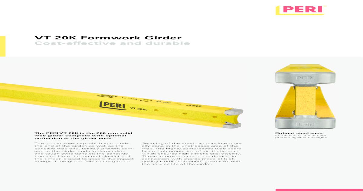 Formwork Girder Vt 20k  - [PDF Document]