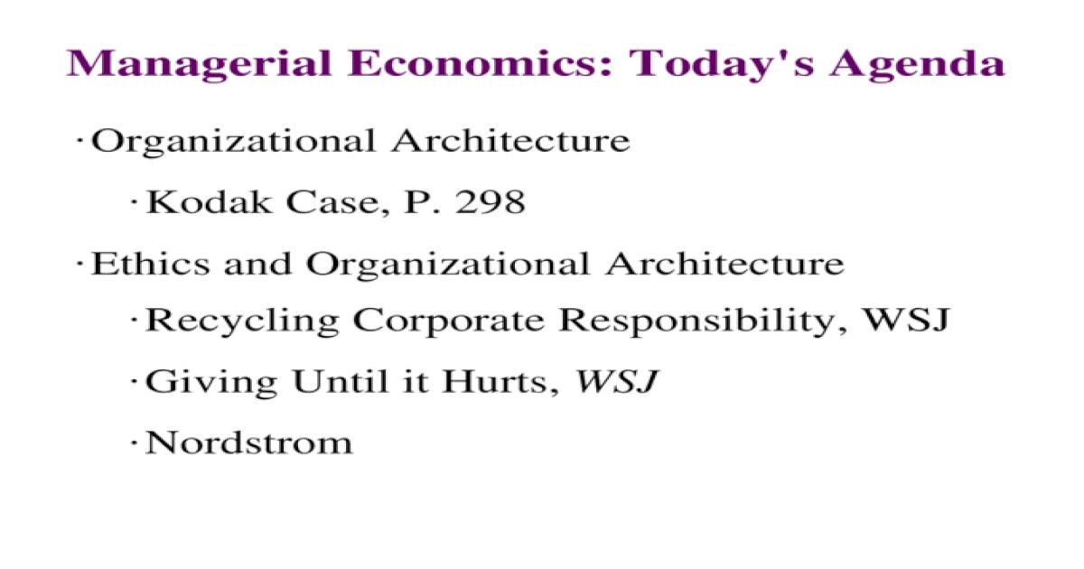 responsibilities of managerial economist