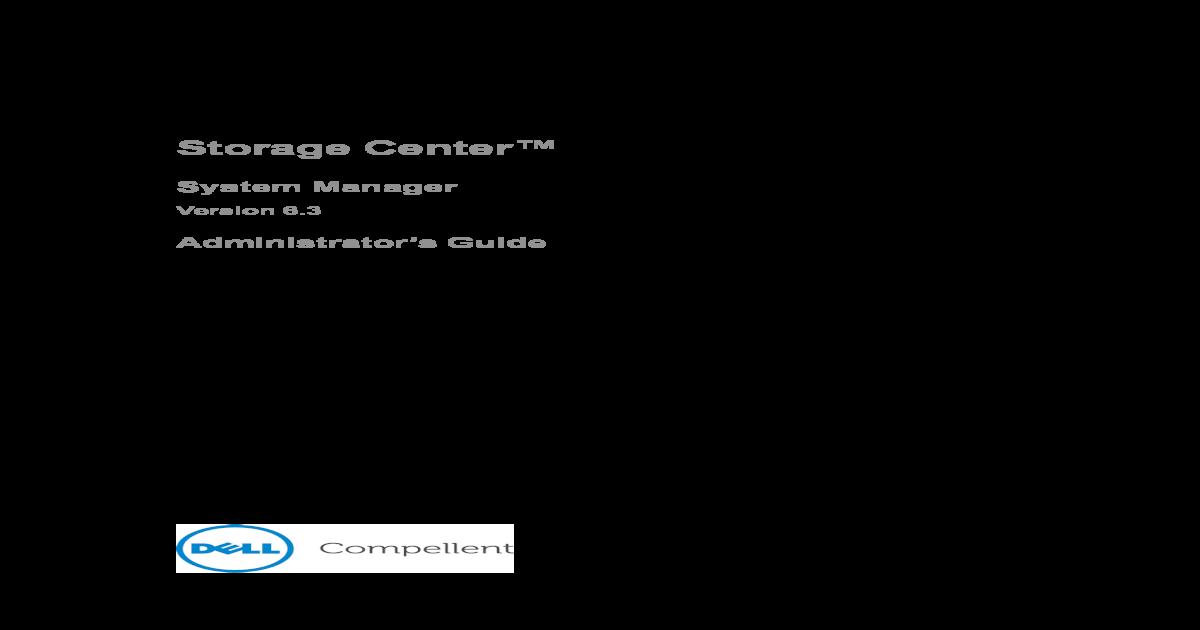 Dell Compellent Storage Center Configuration Guide - [PDF Document]