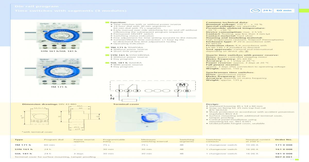 Timer Theben SUL Manual Theben SUL 181 H - [PDF Document]