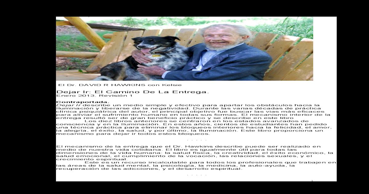 Dejar Ir El Camino De La Entrega David Hawkins.pdf - [PDF