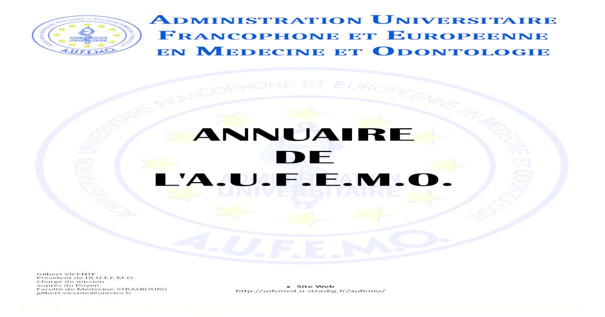 Annuaire De Laufemo Complet Pdf Document