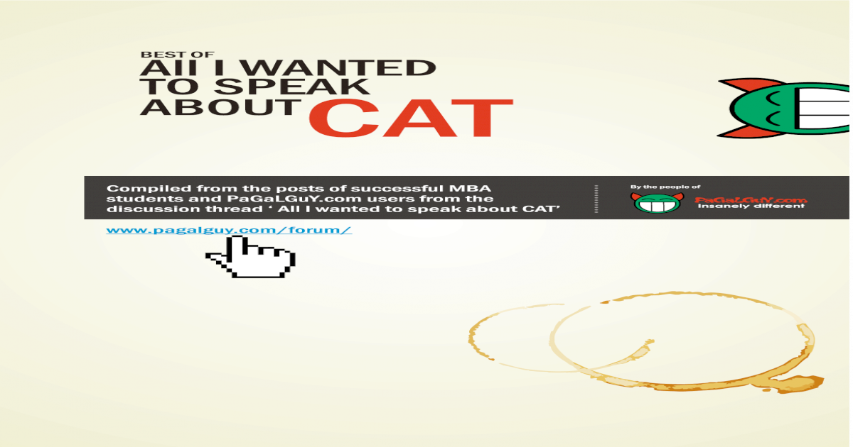 The Best of 'All I Wanted to Speak About CAT' - [PDF Document]