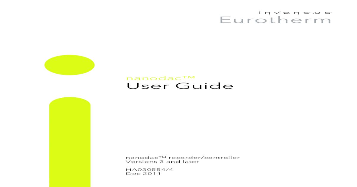 Nanodac User Manual - [PDF Document]