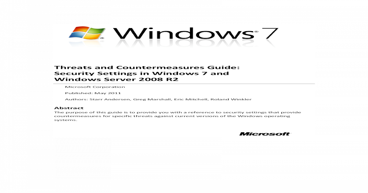 Threats and Countermeasures - [PDF Document]