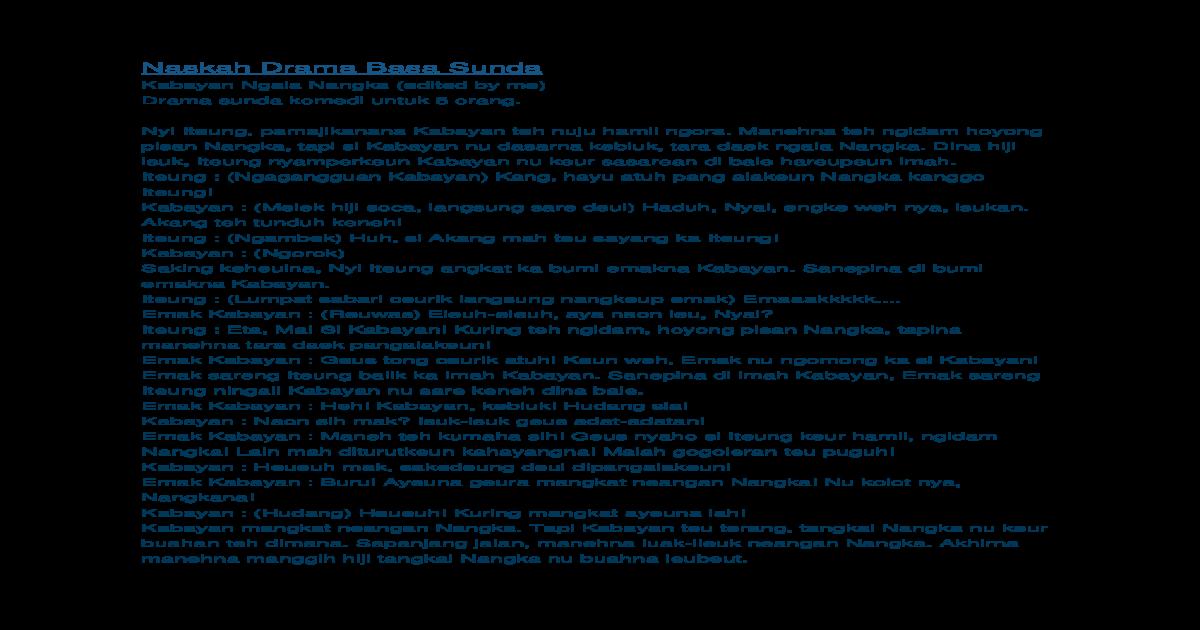 Naskah Drama Basa Sunda Docx Document