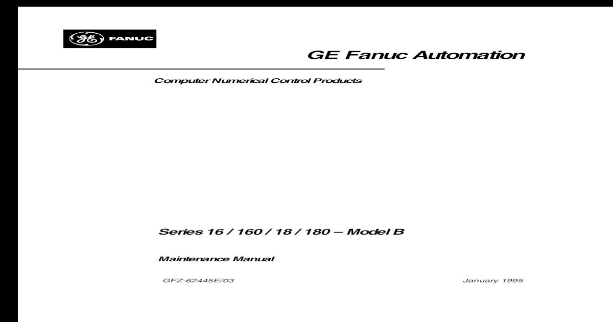 Fanuc Series 16 s - 62445e - [PDF Document]