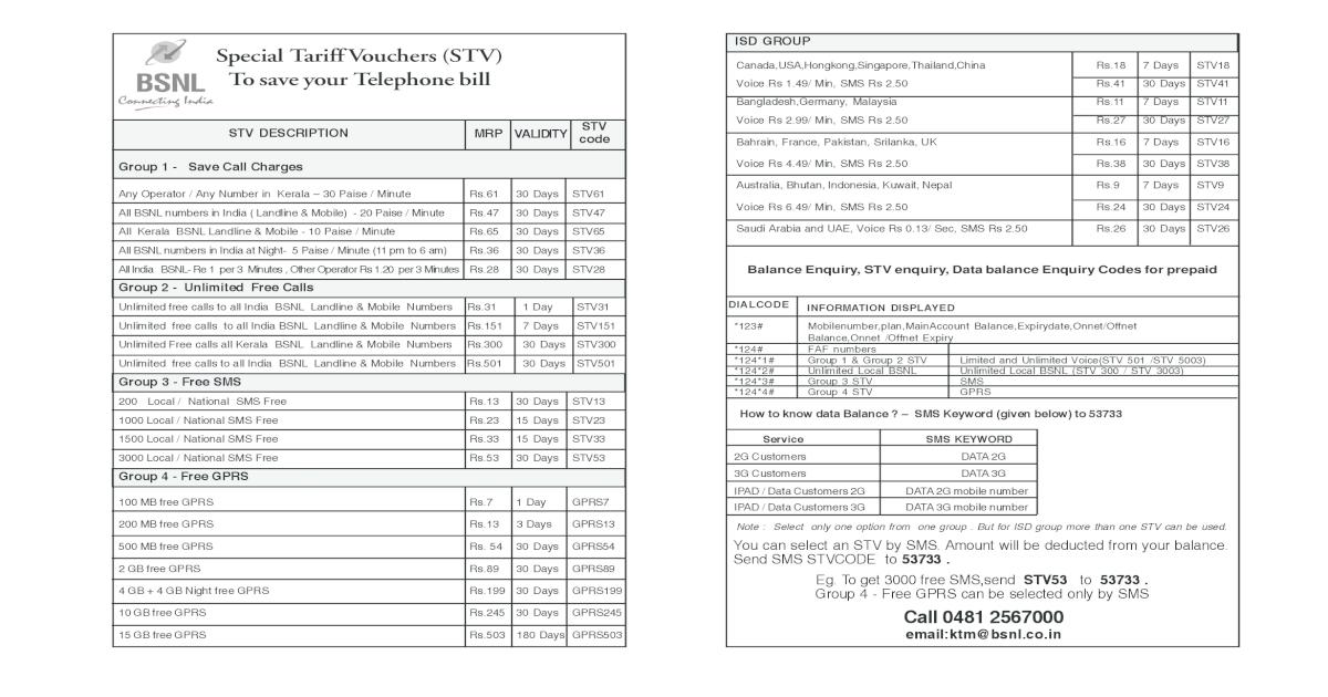 Bsnl Stv Feb - [PDF Document]