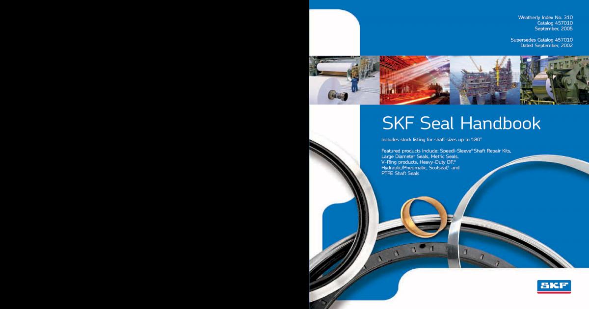 SKF Seal Handbook - [PDF Document]