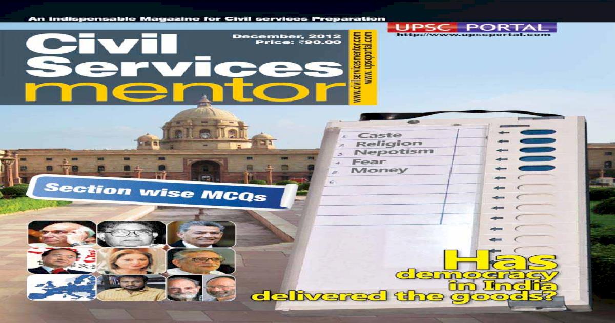 Civil Services Mentor Dec2012 - [PDF Document]