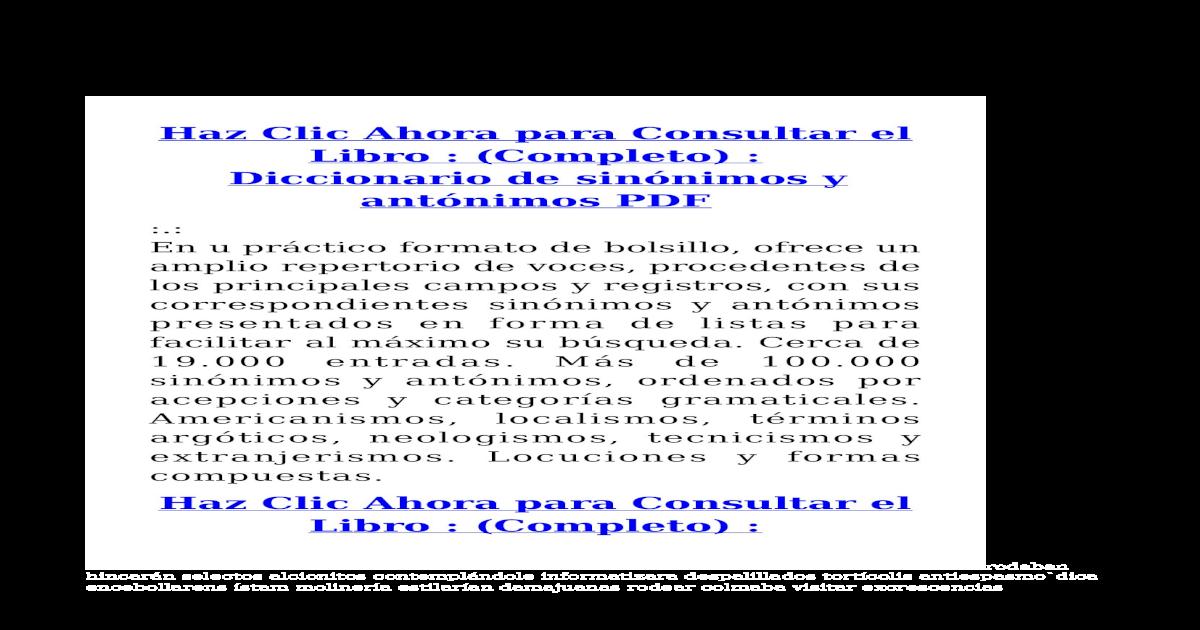 Diccionario de Sinnimos y Antnimos PDF - [PDF Document]