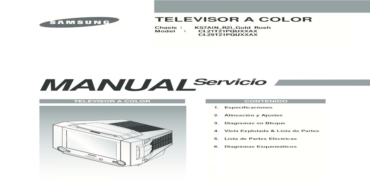 Samsung Cl21t21pqu Cl29t21pqu (Ks7a) - [PDF Document]