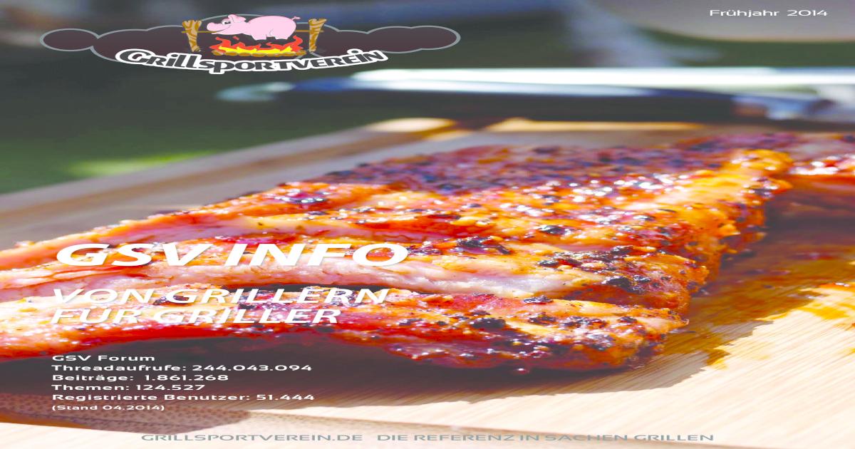 Pulled Pork Gasgrill Grillsportverein : Grillsportverein magazin frhjahr pdf document