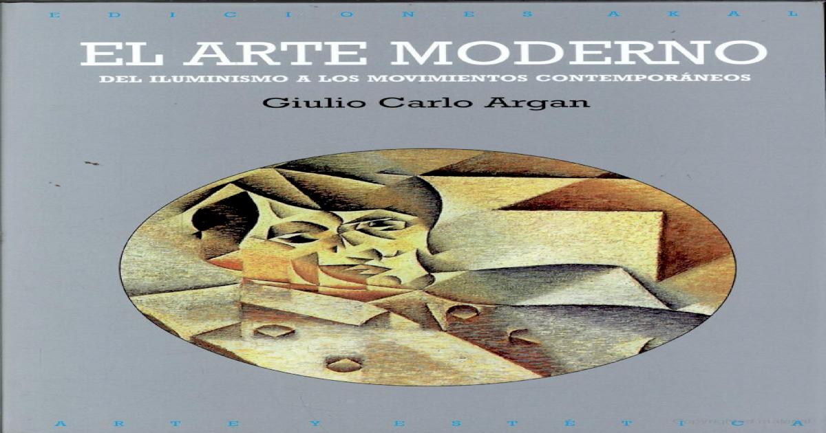 Arte Moderna Argan Pdf