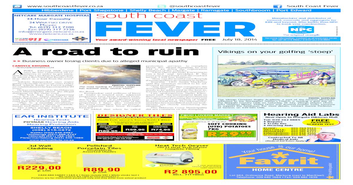 6f2326345dd South coast fever 17 jul 2014 - [PDF Document]