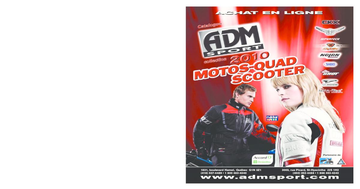 Document Sport Catalogue Adm 2010pdf Motos Scooter Quad wPZOXiTku