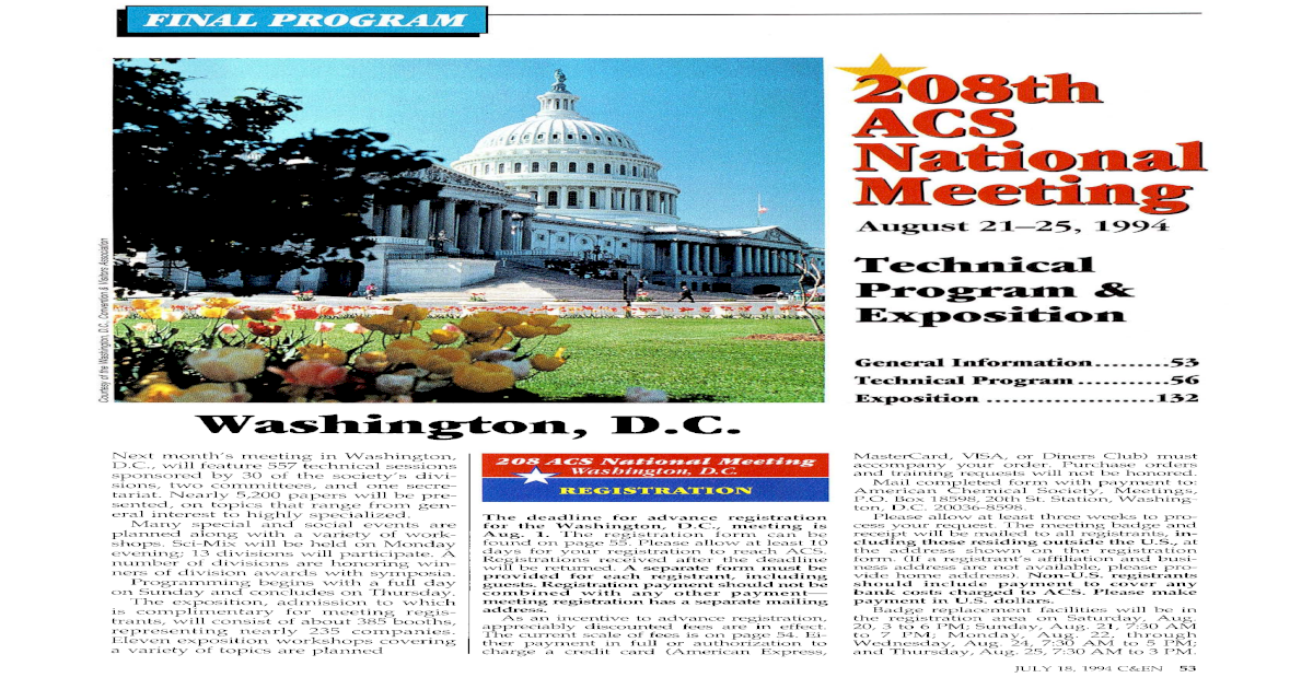 208th National Meeting August 21-25,1994 - [PDF Document]