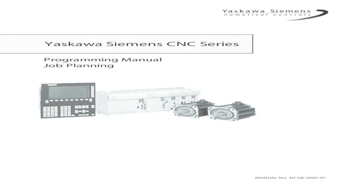 Yaskawa Siemens CNC Series - sotuu  ? Yaskawa Siemens CNC series