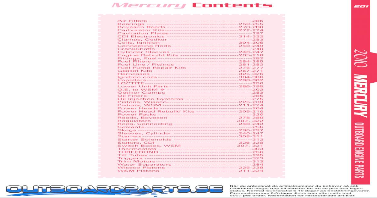 Piston Std Mercury 50-60Hp 91-97 Bore Size 2.955 39-19721A 6 Ring Kit