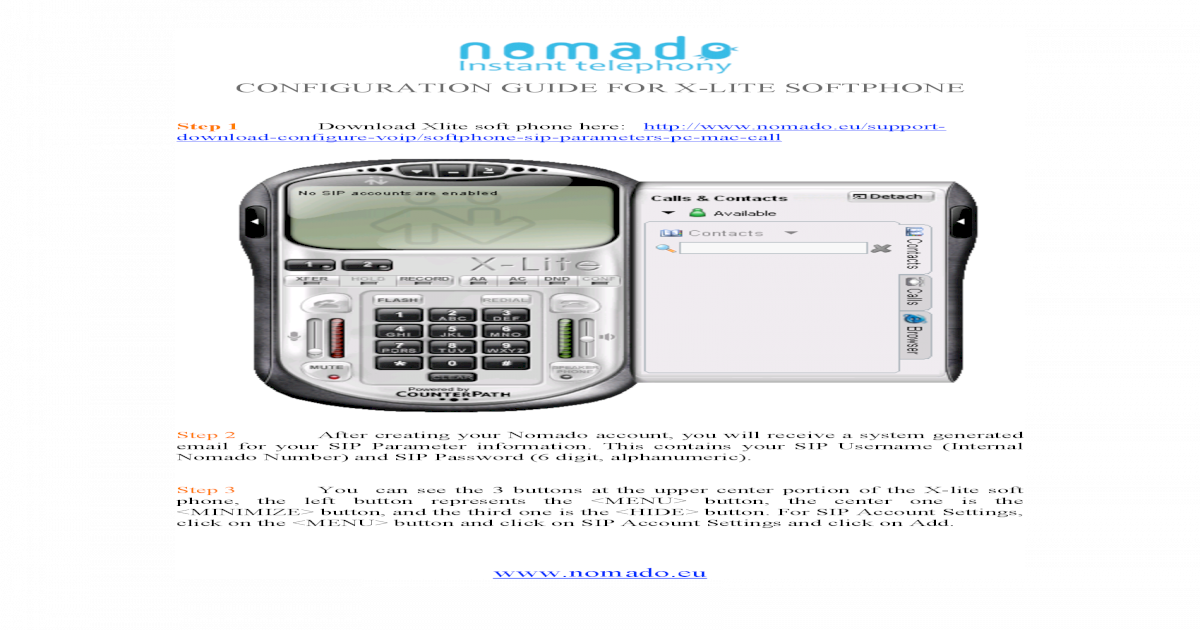 Configuration Guide Softphone Xlite - [PDF Document]