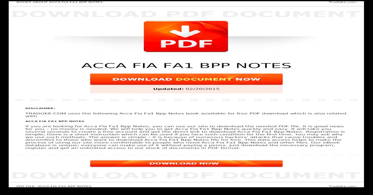 ACCA FIA FA1 BPP NOTES - a  ? BOOKS ABOUT ACCA FIA FA1 BPP