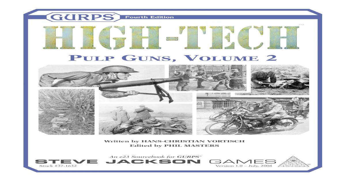 GURPS High Tech: Pulp Guns 1
