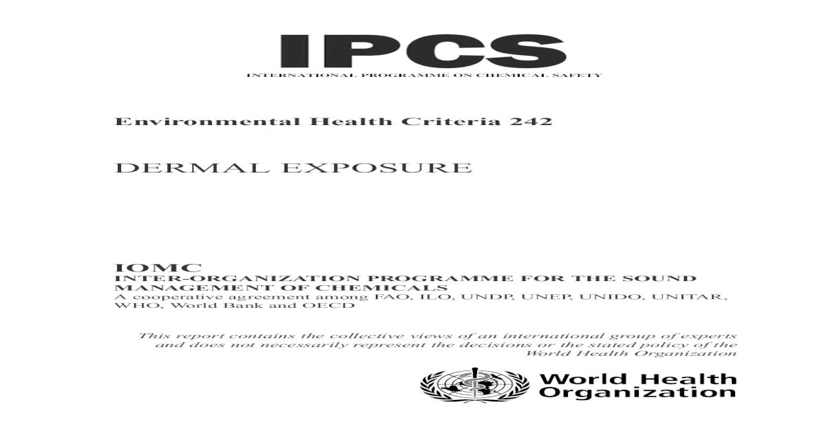 EHC 242: Dermal Exposure - [PDF Document]