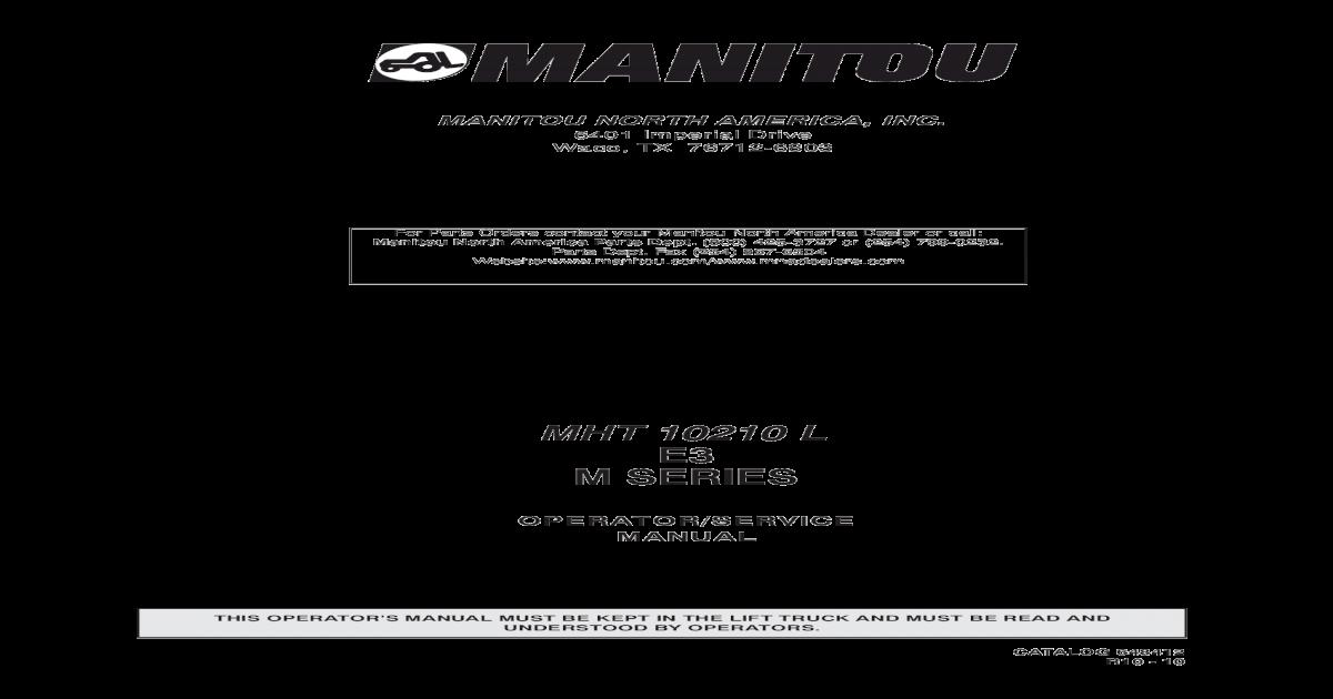MANITOU NORTH AMERICA, INC  - MidTN Equipment & nbsp