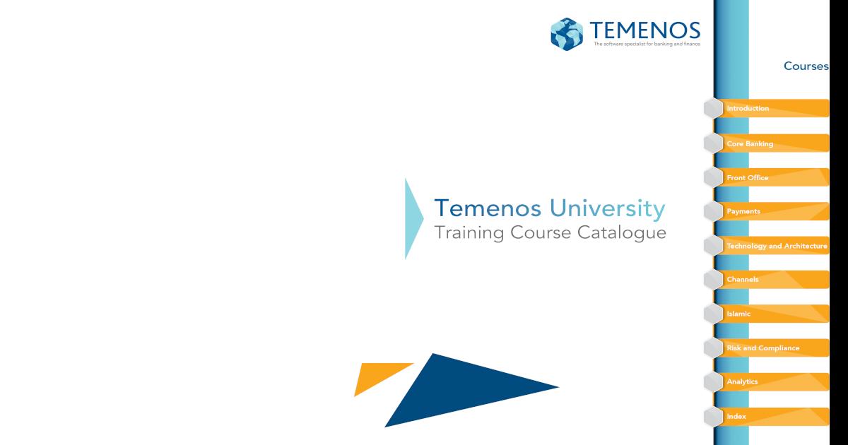 Temenos Training Course Catalogue nbsp
