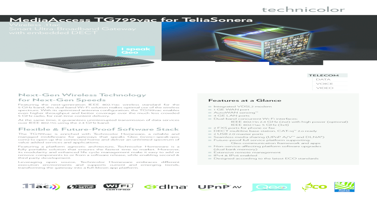 mediaAccess tG799vac for teliaSonera - Privat - Telia se c130efb3