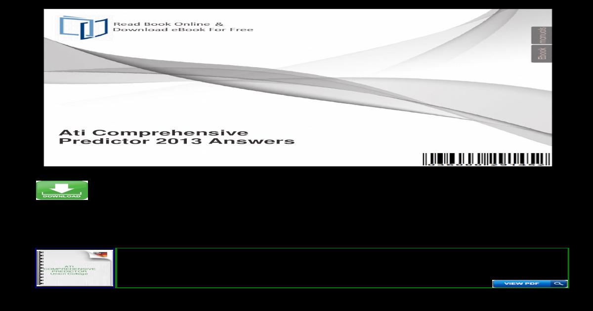 Ati Comprehensive Predictor 2013 ??Ati Comprehensive