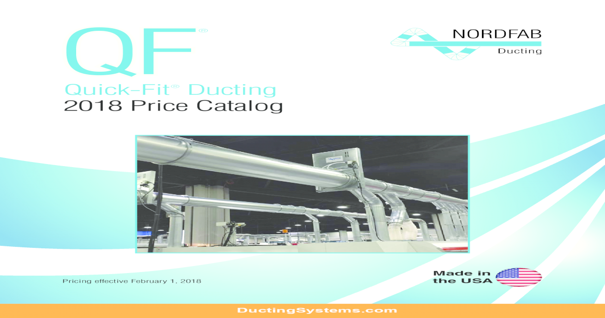 QF - Nordfab Ducting CATALOG QF DUCT SYSTEM 2018 2  The