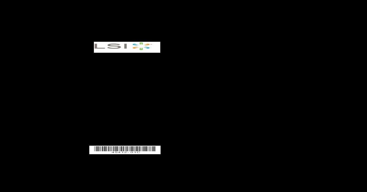 Lsi 3ware 9750 Sata+Sa Raid Controller - [PDF Document]