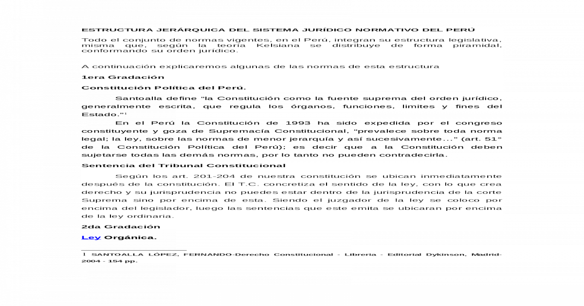Estructura Jerrquica Del Sistema Jurdico Normativo Del Per