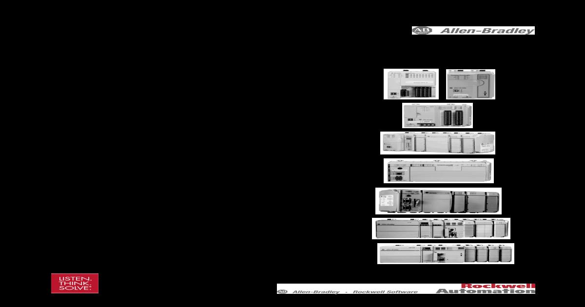 compactlogix controllers specifications technical bradley    1769-l31, 1769-l32c,  1769-l35cr, 1769-l32e, - [pdf document]