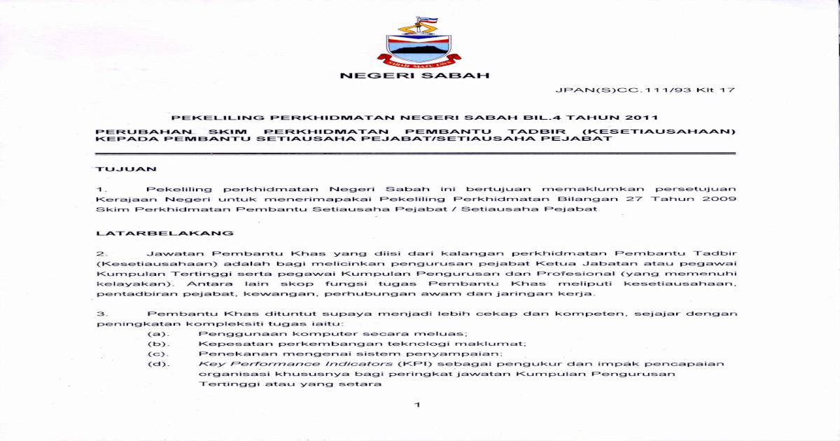 4 Sehubungan Itu Skim Perkhidmatan Pembantu Tadbir Pelantikan Gaji Pegawai Hendaklah Diselaraskan Pdf Document