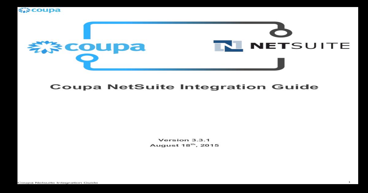 Coupa NetSuite Integration Guide api/deki/files/1663/NetSuite