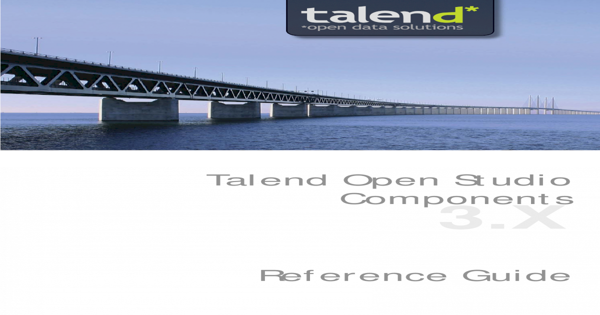 Talend Open Studio Components - ? Creative Commons License Talend