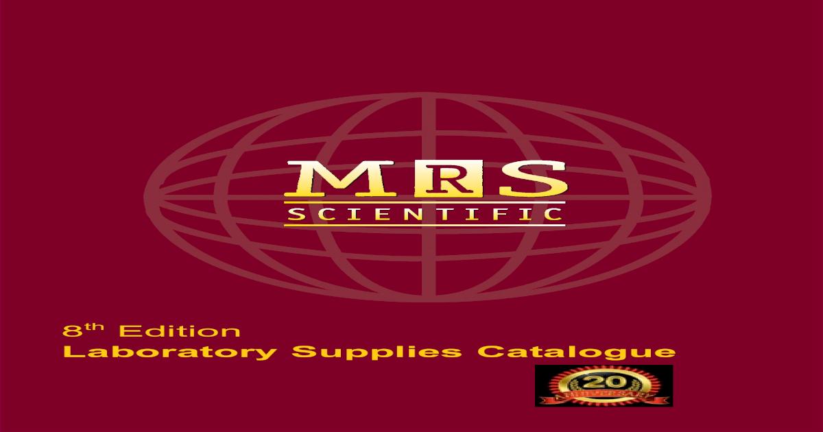Laboratory Supplies Catalogue 8 Edition - [PDF Document]
