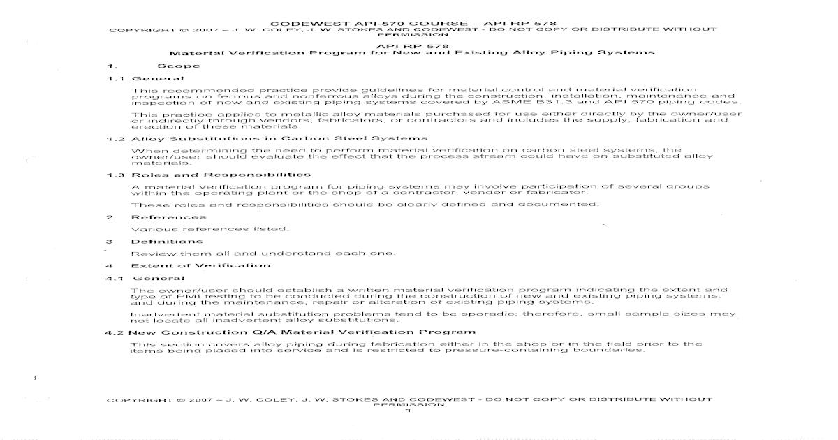 Api 570 course-note - api rp-578 - [PDF Document]
