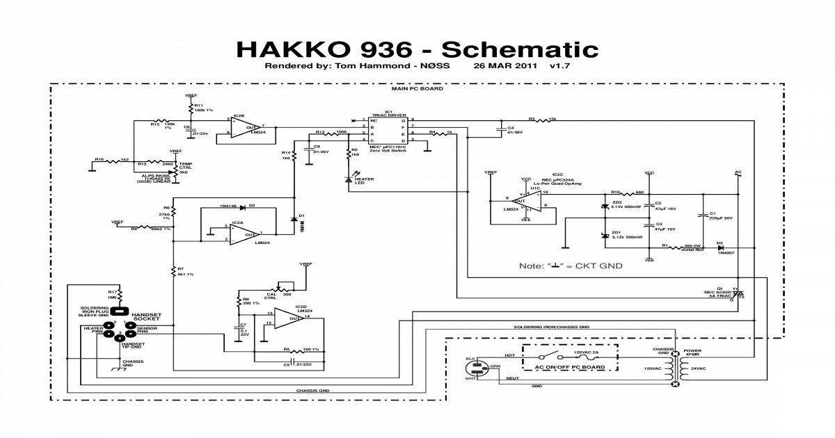 Hakko 936 Schem-pcb & Mod v1r7 - [PDF Doent] on