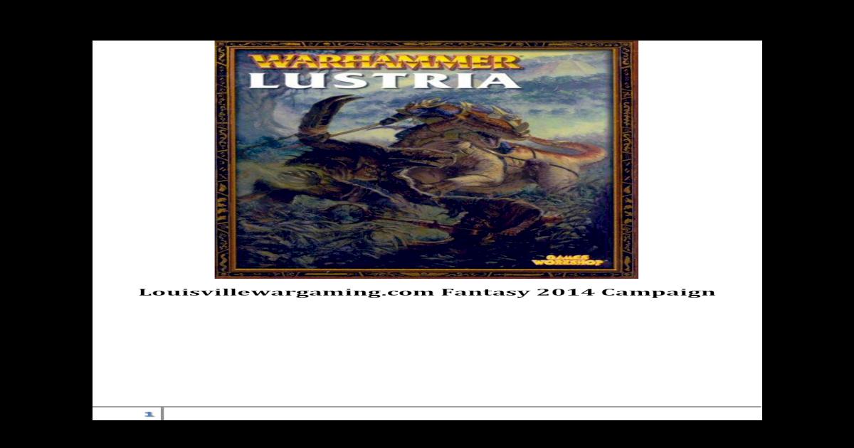 Lustria Rules Warhammer Fantasy - [PDF Document]